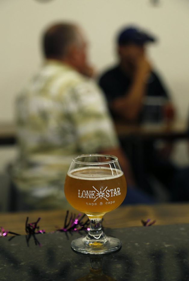 A 4 oz. sample size craft beer from tap at Lone Star Taps and Caps in Lewisville on Wednesday, October 7, 2015.