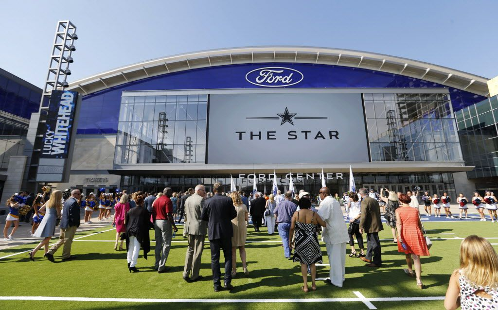 People make their way inside The Star, the Dallas Cowboys new headquarters at The Star in Frisco on Sunday, August 21, 2016. The Star, is a joint project with the City of Frisco, and Frisco ISD. (Vernon Bryant/The Dallas Morning News)
