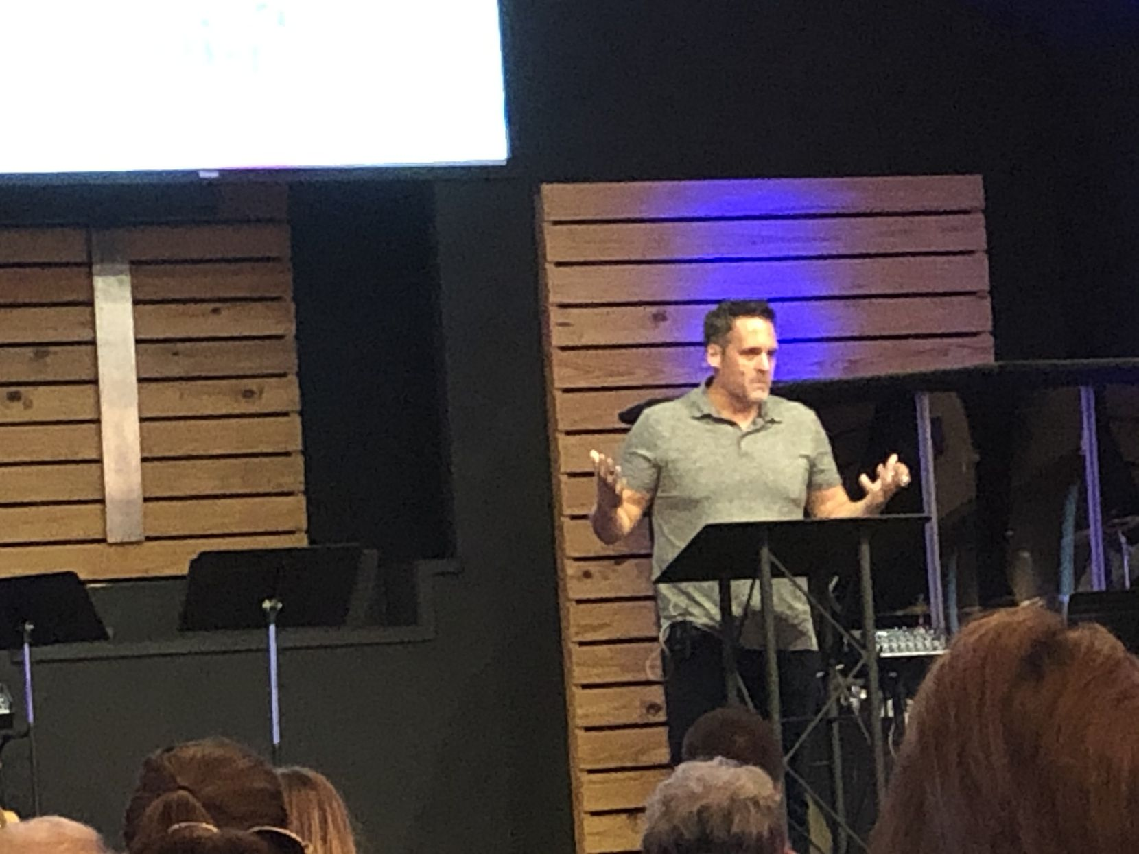 Pastor Jason Stover of Lonesome Dove Baptist Church in Southlake, one of the oldest churches in Texas, has increased attendance during his six years at the church.
