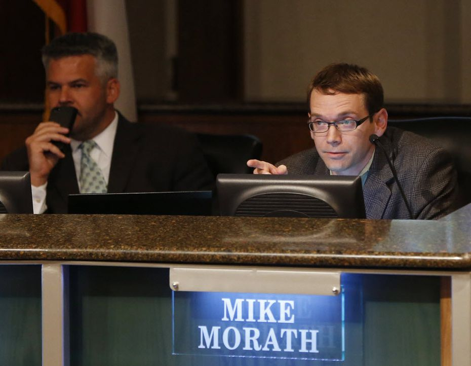 Gov. Greg Abbott has picked Dallas Independent School District Trustee Mike Morath to be Texas' education commissioner. ( April 2015 photo by Vernon Bryant/The Dallas Morning News)