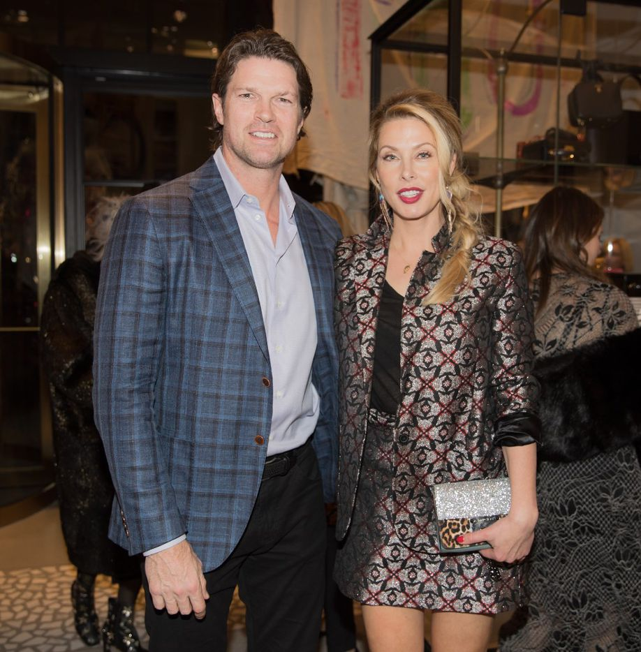 Former Dallas Star Jason Arnott and his wife, Dina, at the opening gala of Forty Five Ten.