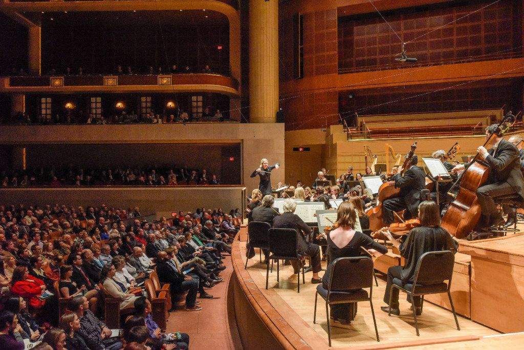 The Dallas Symphony Orchestra led by Conductor Karina Canellakis performs Beethoven's Symphony No. 8 at the Morton H. Meyerson Symphony Center on Thursday, Jan. 12, 2017.   (Rex C. Curry/Special Contributor)