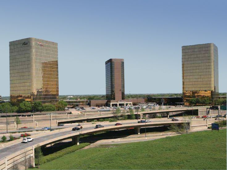 The Campbell Centre at U.S. Highway 75 and Northwest Highway was built starting in the early 1970s. (File Photo)