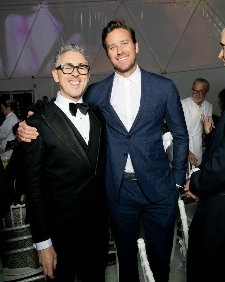 Alan Cumming and Armie Hammer at the TWO x TWO for AIDS and Art event at the Rachofsky House on Saturday, Oct. 27, 2018.