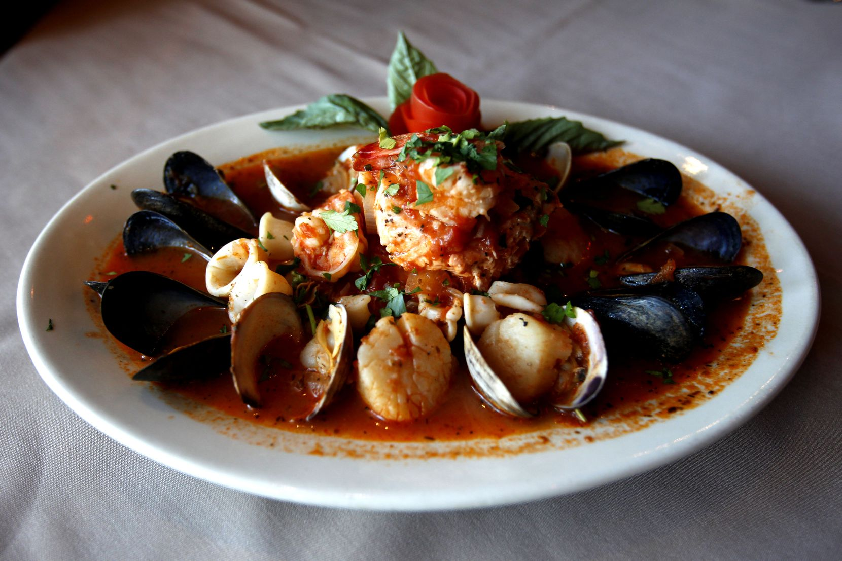 The Cioppino dish at Ruggeri's