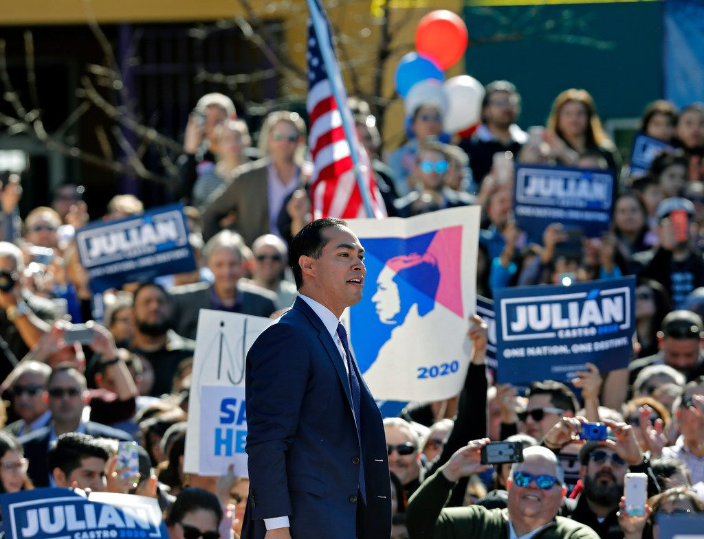 Julian Castro, former HUD secretary and San Antonio mayor, announced his candidacy for president at Plaza Guadalupe on Jan. 12, 2019, in San Antonio. If successful, Castro would be the first Hispanic candidate to win the White House.