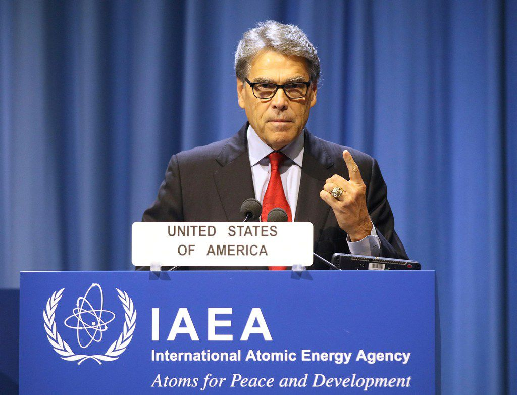 Energy Secretary Rick Perry delivered a speech at opening of the general conference of the International Atomic Energy Agency at the International Center in Vienna, Austria, on Sept. 16, 2019.