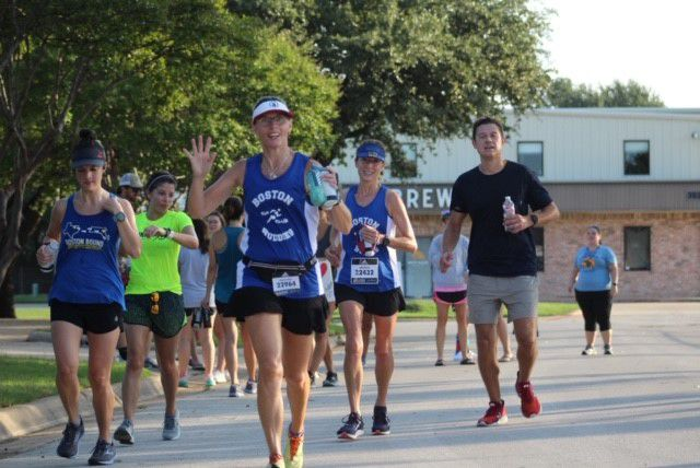 South Grand Prairie High School teacher Shelby Henry is shown running in a picture shared by the school district.