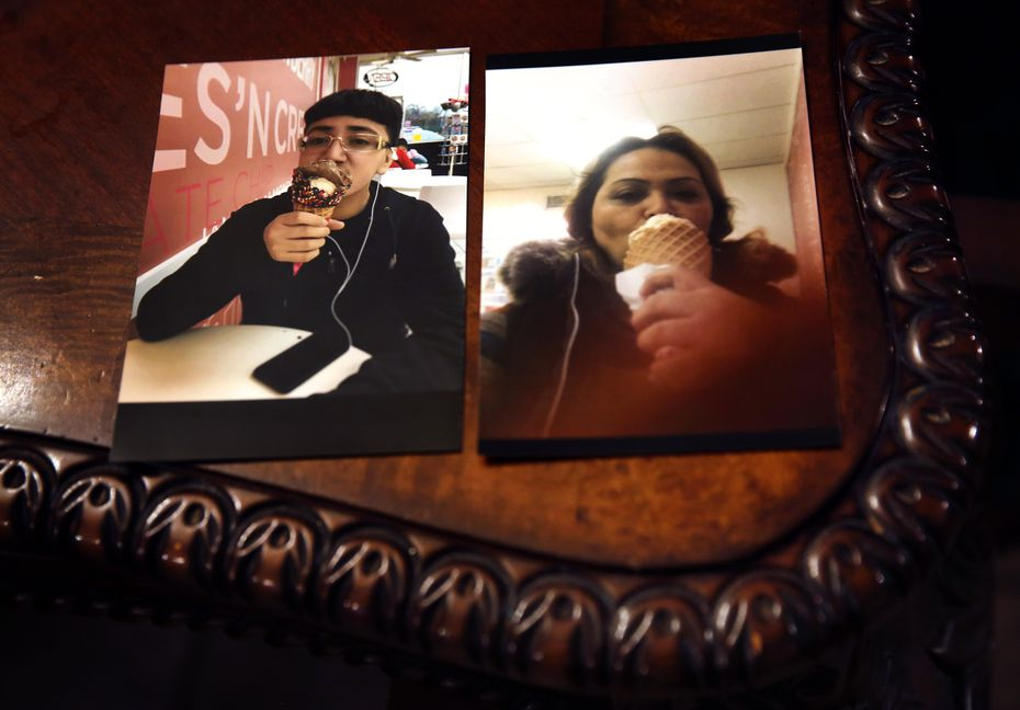 The last photos of 14-year-old John Zuniga and his mother, Graciela Zuniga, eating one of his favorites, ice cream. John was killed over the summer during a drug deal involving $55 of marijuana.  (Tom Fox/The Dallas Morning News)