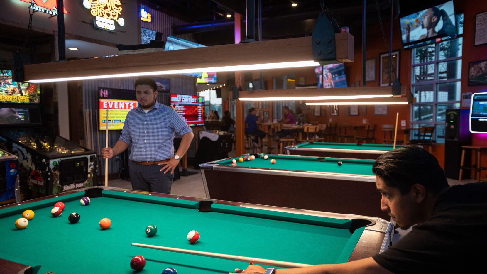 Sylvan Avenue Tavern in West Dallas opened in mid-August 2021, but it's made to look like people have been shooting pool here for years. It helps that sibling bar Bryan Street Tavern, in Old East Dallas, has that same vibe.