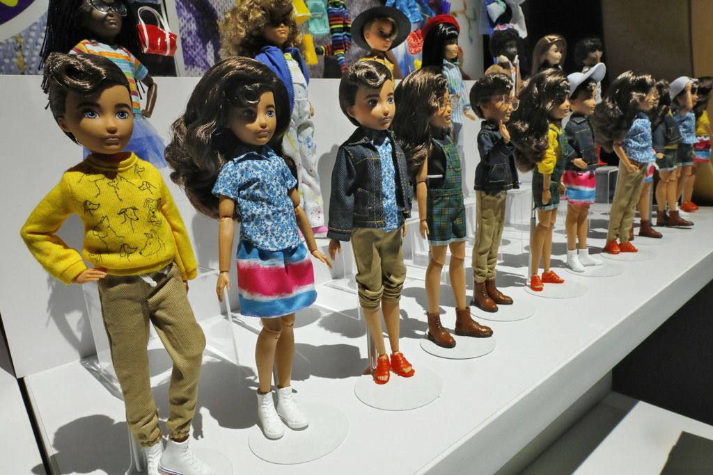 Creatable World dolls, by Mattel, were displayed at Toy Fair New York last month.