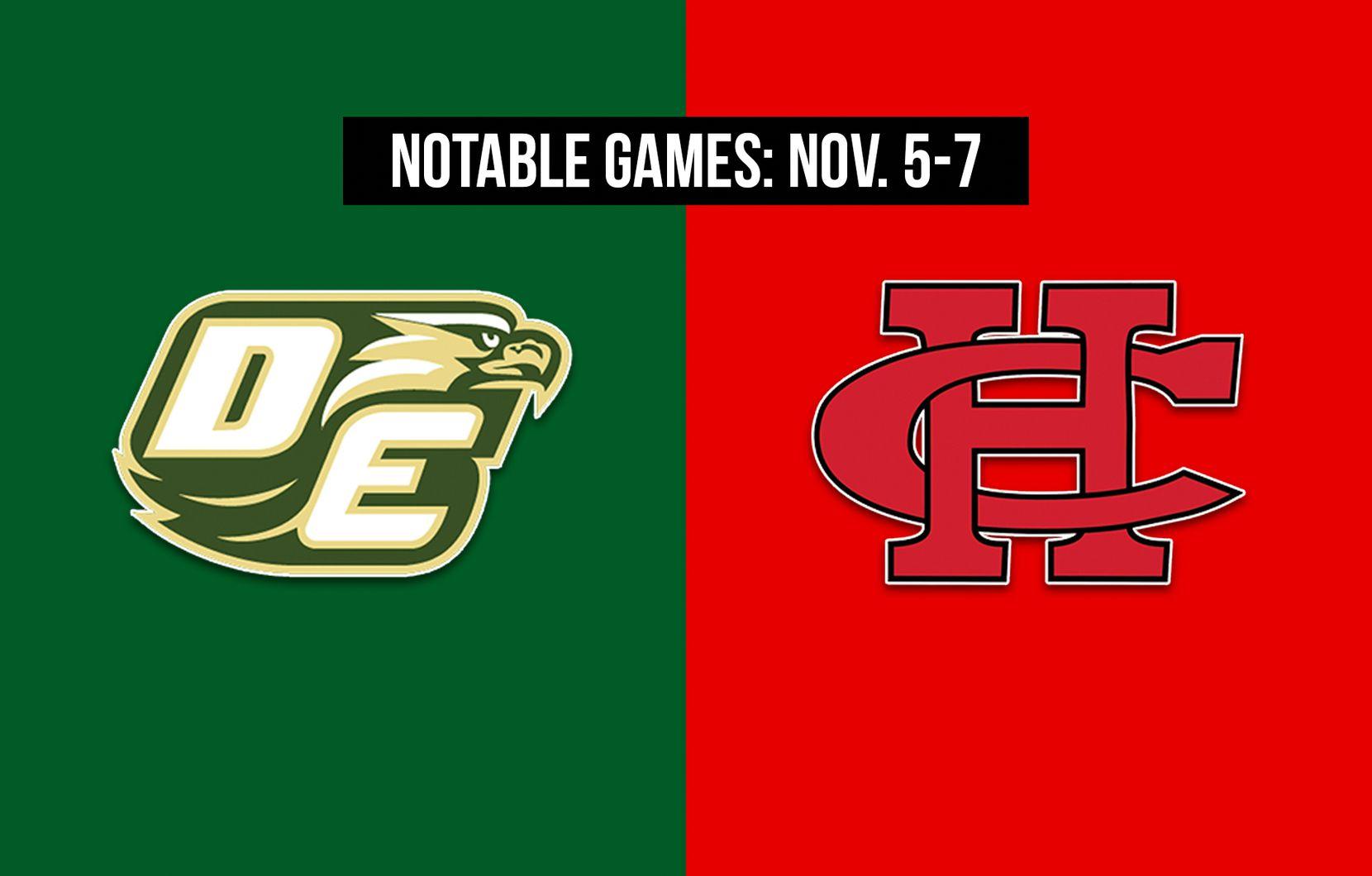 Notable games for the week of Nov. 5-7 of the 2020 season: DeSoto vs. Cedar Hill.