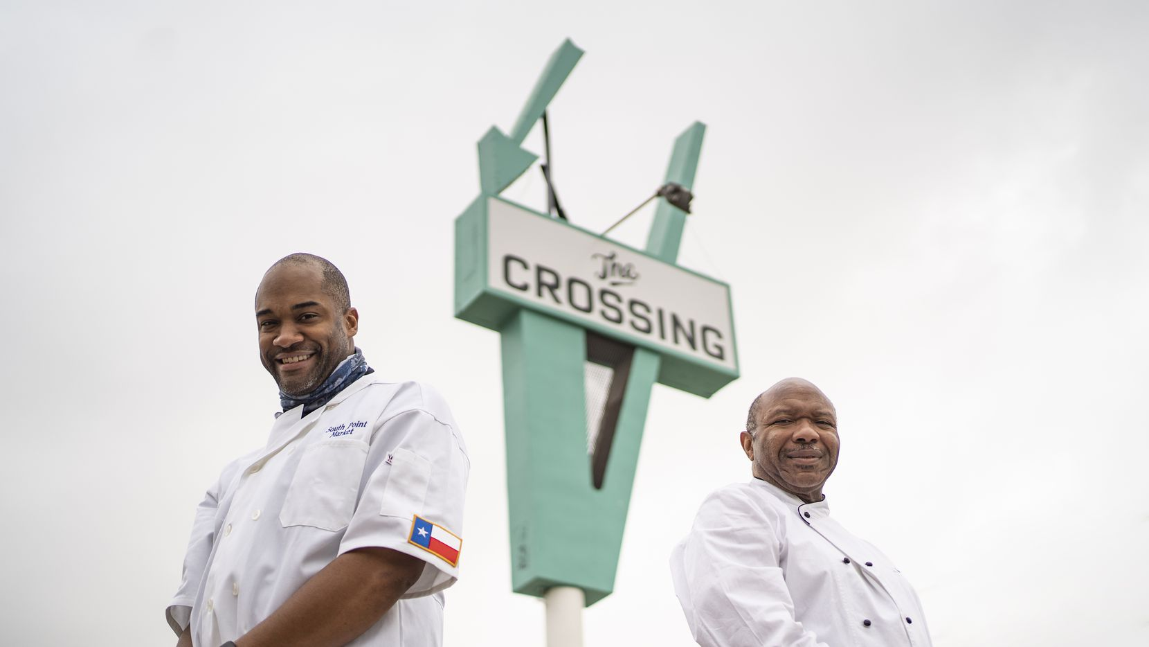 Cornerstone Church Pastor Chris Simmons (right) is opening a small non-profit grocery mart in a South Dallas neighborhood. Donald Wesson Jr. (left), Cornerstone's program director, says he knows that's going to be difficult in this neighborhood. That's why he looked for a different model for the market.