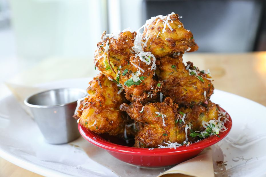 On Food Network show 'Triple D Nation,' Cane Rosso's chefs in Carrollton cooked zucchini and artichoke fritters. The show premieres Feb. 28, 2020.