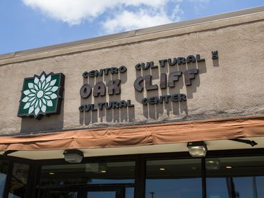 The facade of the Oak Cliff Cultural Center appears in this file photo.