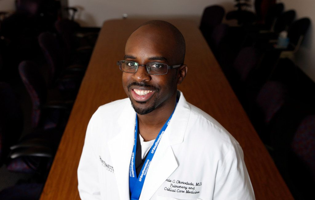 Dr. Dale Okorodudu is working to increase the number of black men in medicine through his work and brand, Black Men in White Coats.