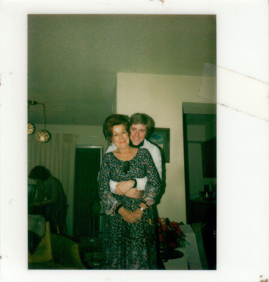The author Jeff Herrington with his mother, Irene Giessmann.