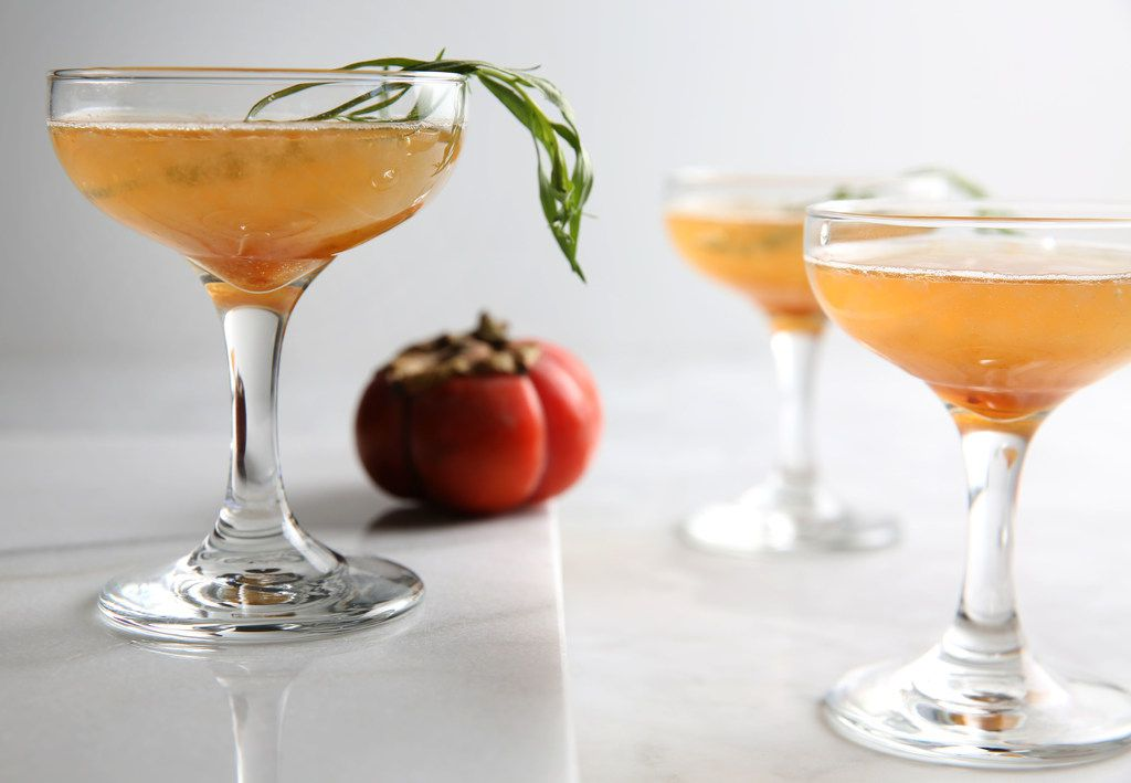 Persimmon Brandy Fizz