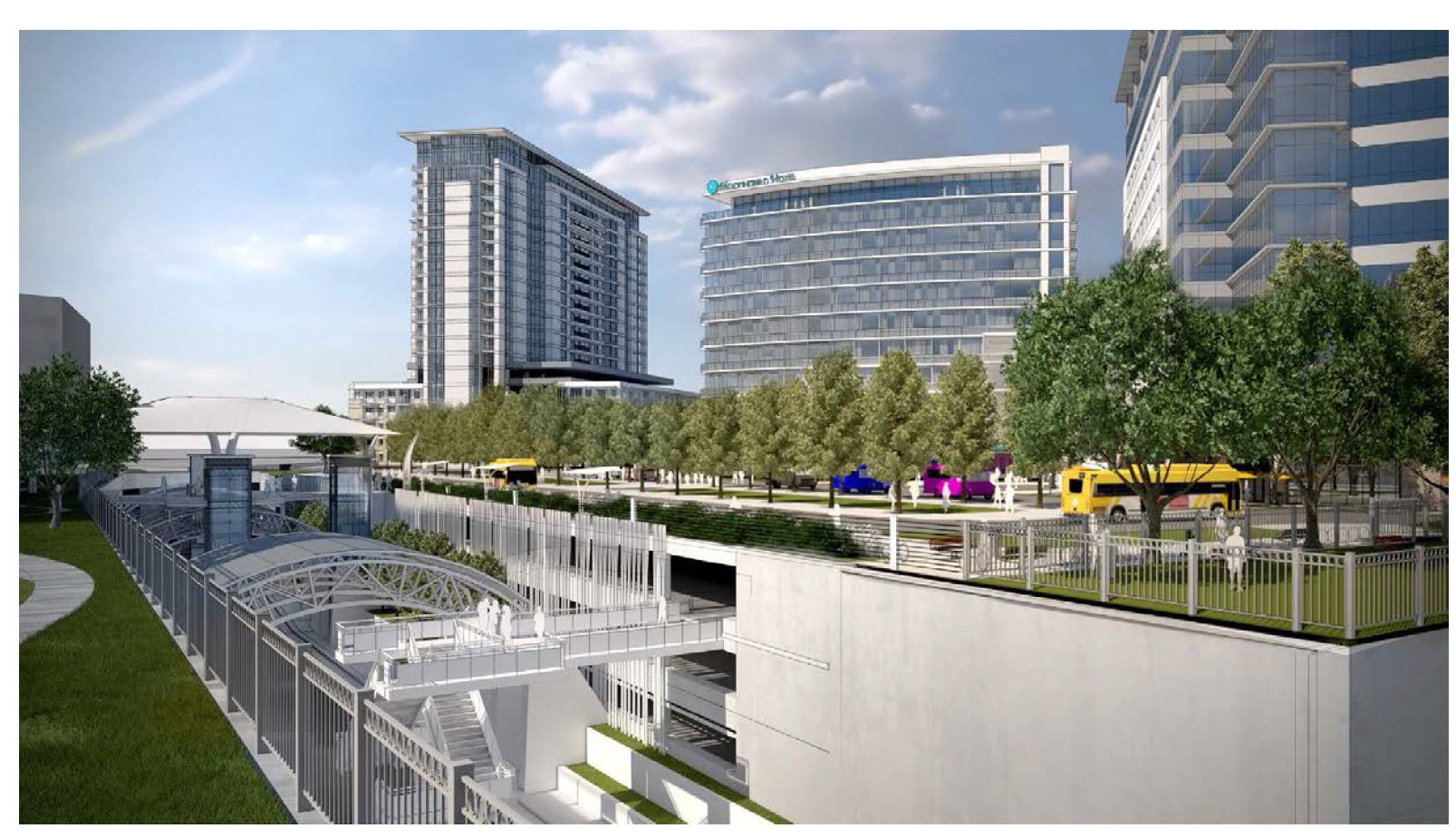 High-rise buildings would be constructed on top of a new underground garage.
