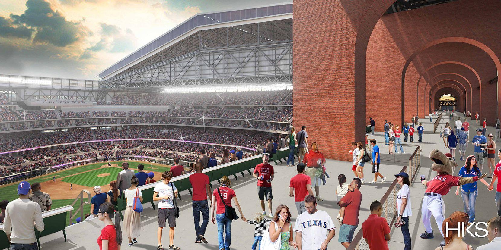 Rendering via the Texas Rangers