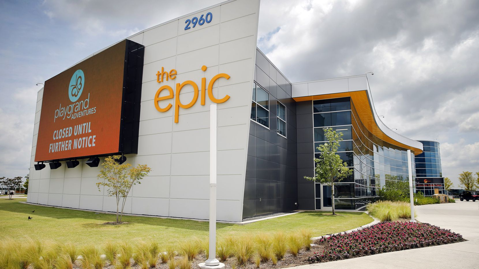 An exterior view of The Epic, a 120,000 square-foot of year-round indoor recreation center, in Grand Prairie, Texas, Thursday, June 25, 2020. (Tom Fox/The Dallas Morning News)