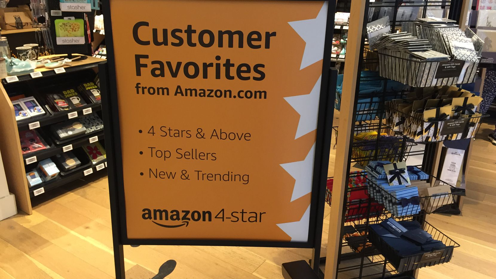 Amazon 4-Star store at 72 Spring St. in New York.
