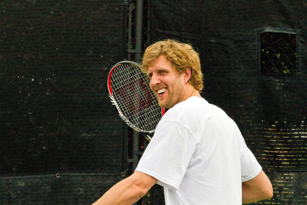 Dirk Nowitzki carries lots of clout -- and a pretty good tennis game -- when it comes to drawing celebrities to help out with his charitable efforts and the Dirk Nowitzki Foundation.