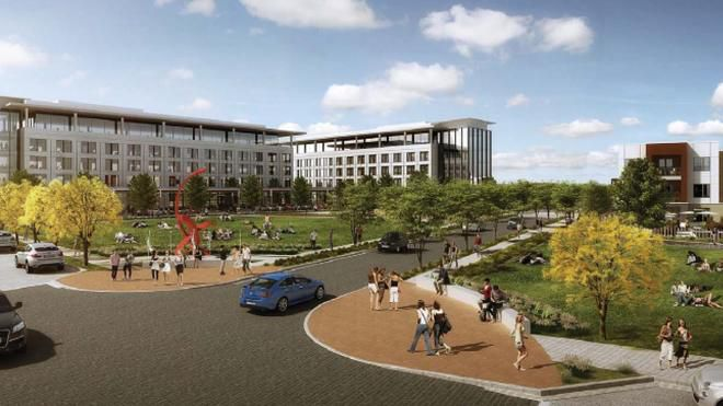 Two office buildings are planned in the Hall Park Richardson project.
