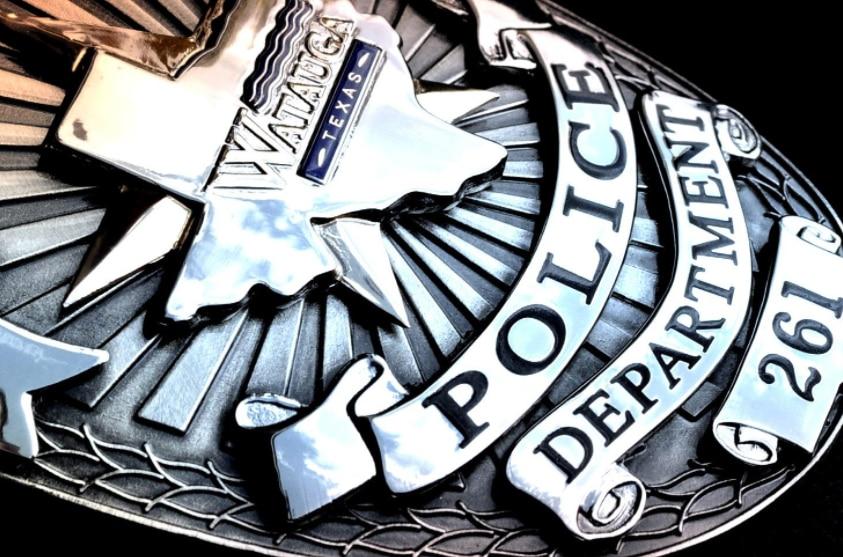 File image of Watauga Police Department badge.