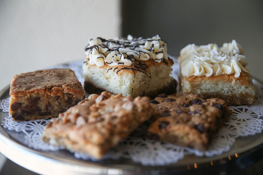 A variety of blondies are seen at Baked by Toni Rivard on July 18, 2019 in Dallas.