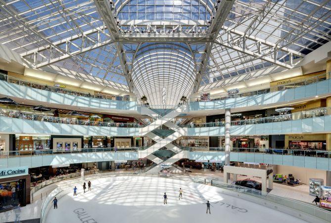 El centro de Dallas Galleria. El mall reabre sus puertas este viernes.