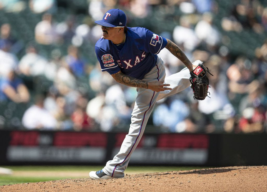 SEATTLE, WA - MAY 29: Reliever Jesse Chavez #53 of the Texas Rangers delivers a ptich during the seventh inning of a game against the Seattle Mariners at T-Mobile Park on May 29, 2019 in Seattle, Washington. The Rangers won 8-7.  (Photo by Stephen Brashear/Getty Images)