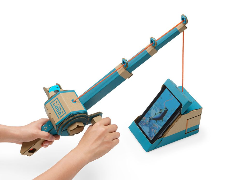 You can build a cardboard fishing pole as part of Nintendo Labo Variety Kit.