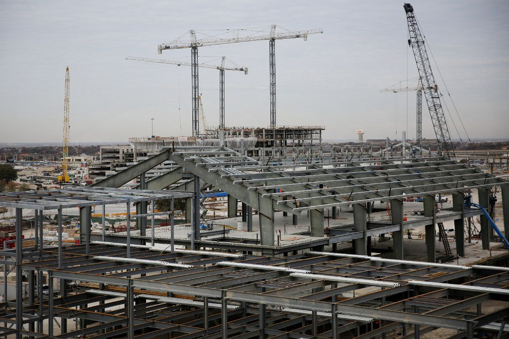 Construction continues at the food hall at the Legacy West development in Plano, Texas Wednesday December 21, 2016. The finished development will include dining, stores, lodging and corporate spaces. (Andy Jacobsohn/The Dallas Morning News)