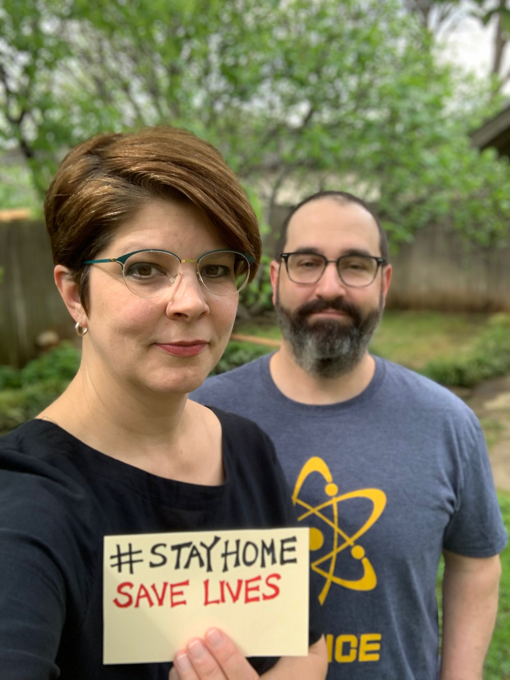 Lucia owners Jennifer and David Uygur take a selfie at their home in Oak Cliff.
