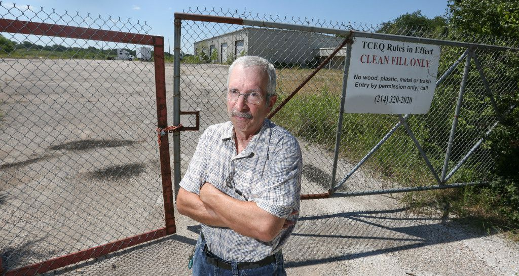 Joel Potasznik photographed in front of his property on Dowdy Ferry Road in unincorporated southern Dallas County on July 31, 2017. The land was seized in 2015 when the county fire marshal accused his tenants of illegal dumping.