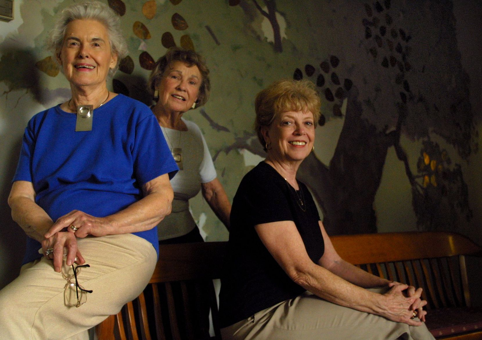 From left: Vivian Castleberry, Maura McNiel and Kay Cole were all key figures in the Women's Center of Dallas, which closed in 2001 after 30 years and disbursed its programs to other advocacy groups. Castleberry and McNiel were founders of the center, and Cole was one of the early presidents of the Women's Southwest Federal Credit Union, one of the programs of the Women's Center.