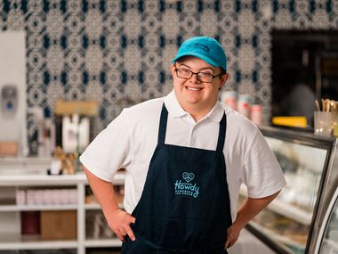 Howdy Homemade Ice Cream employee Coleman Jones appeared on the 'Today' show on NBC on Oct. 9. The ice cream shop recently relocated in Dallas to save money on rent.
