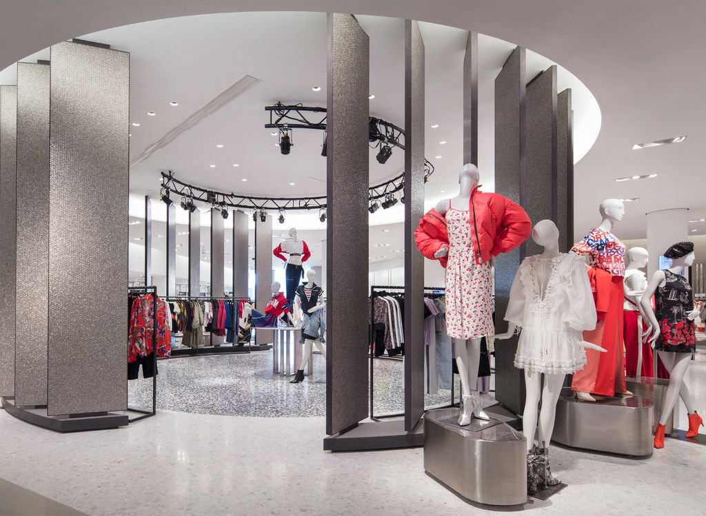 Neiman Marcus Live at Hudson Yards. This space can be transformed into an area where events can be broadcast live with seating for about 150 people.