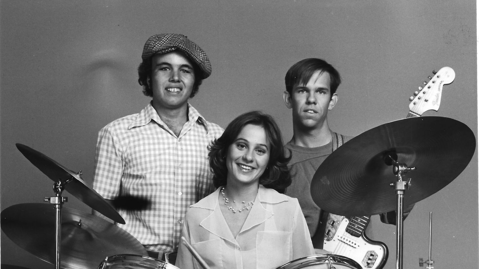 Clint Howard, at left, managed the fictional band Cotton Candy, and wrote the TV movie (and novelization) with brother Ron