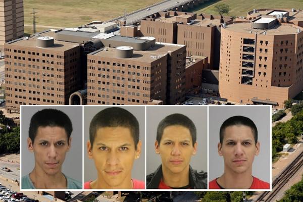 Cuatro fotografías de Raymond Agüero, quien se fugó el viernes de la cárcel del condado.