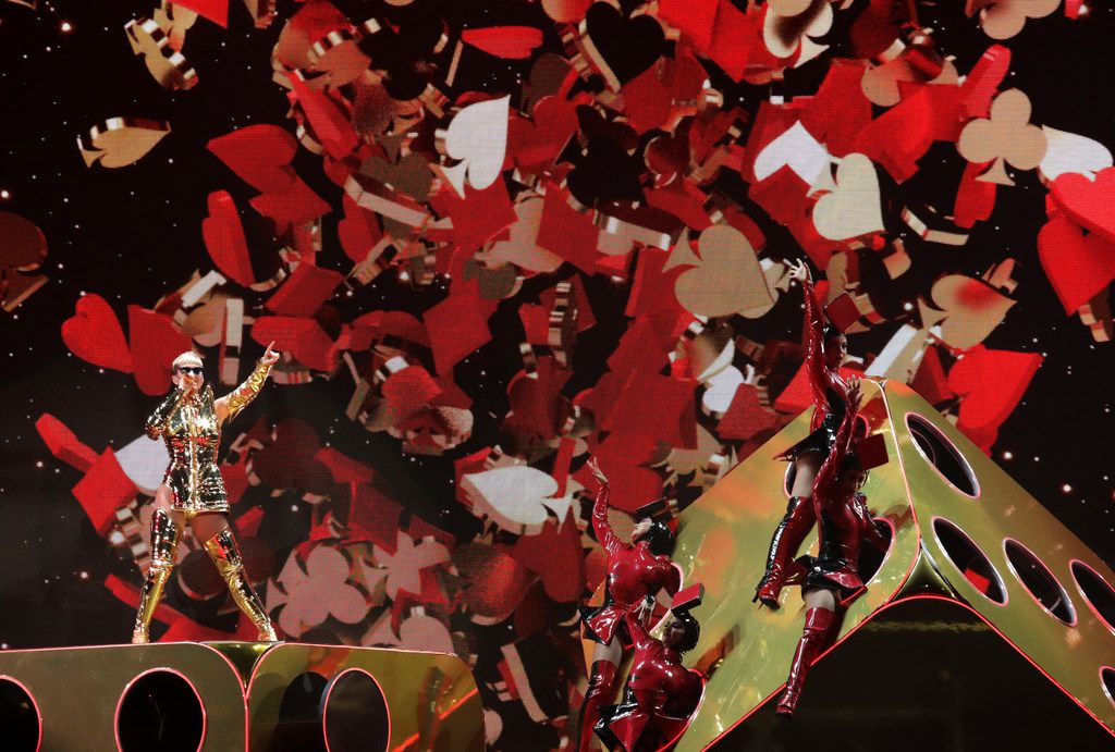 Katy Perry performs at American Airlines Center in Dallas on Jan. 14, 2018.