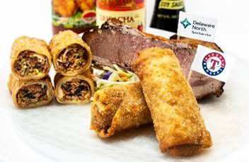Brisket egg rolls won a recent Twitter contest and will be sold at the Texas Rangers' new Globe Life Field in 2020.