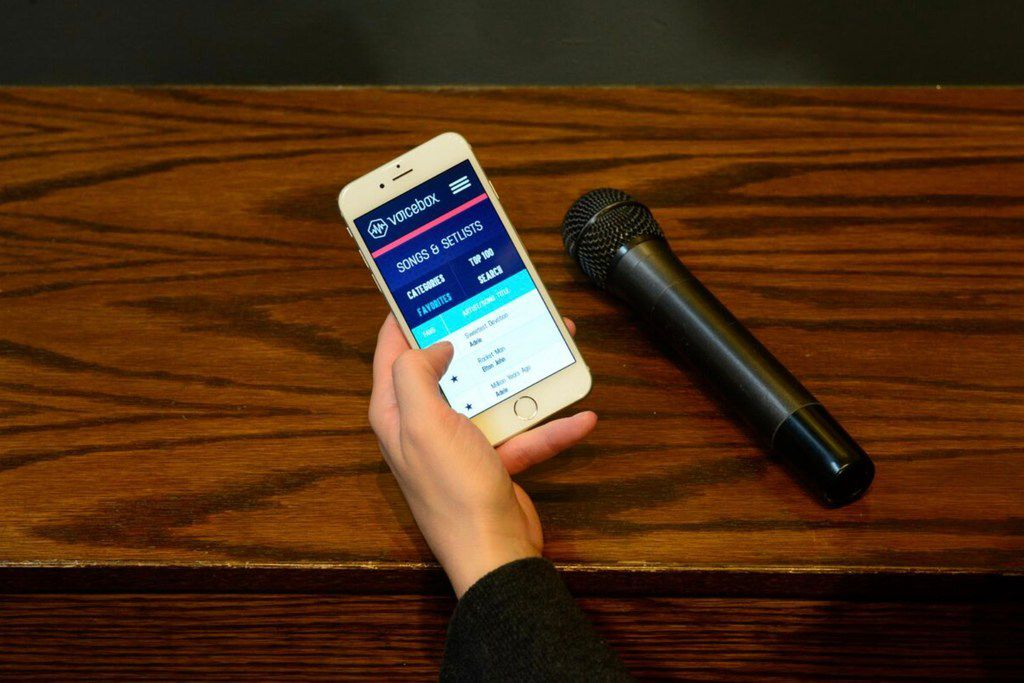 Voicebox's karaoke technology allows guests to make musical selections from their smartphones.