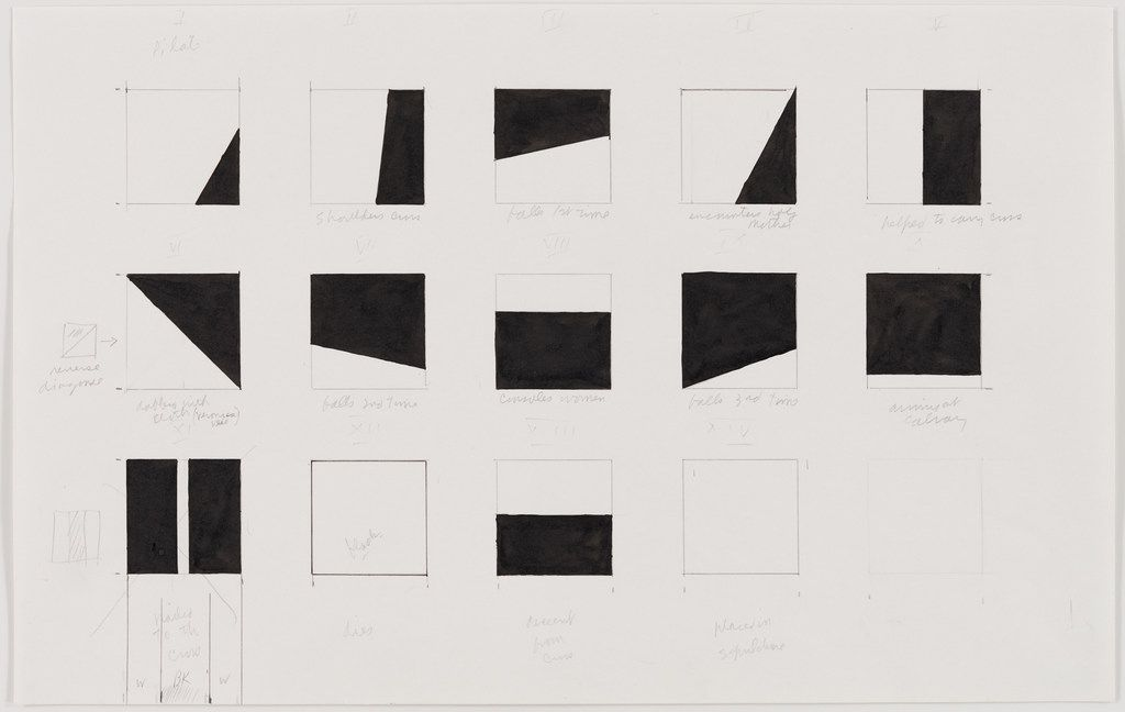 Ellsworth Kelly Study for Stations of the Cross, 1987 ink and graphite on paper