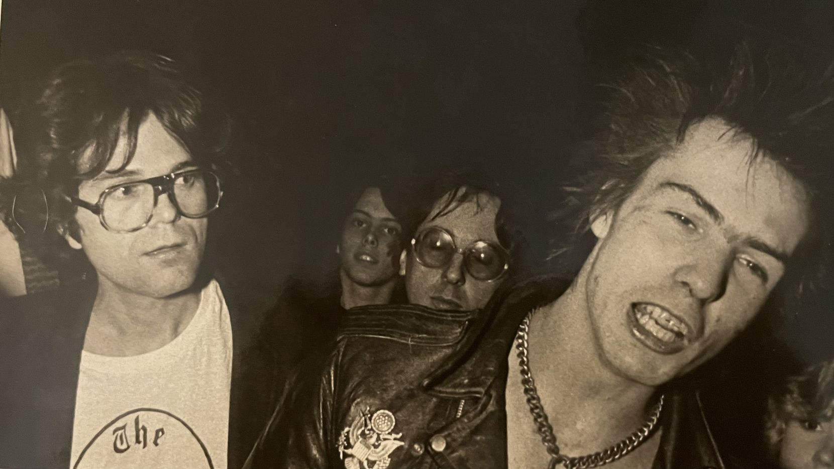 Mark Sims, left, was one of the people who attended the Sex Pistols concert in Dallas on Jan. 10, 1978. At right is Sex Pistols band member Sid Vicious. Photograph courtesy of Randy Eli Grothe.