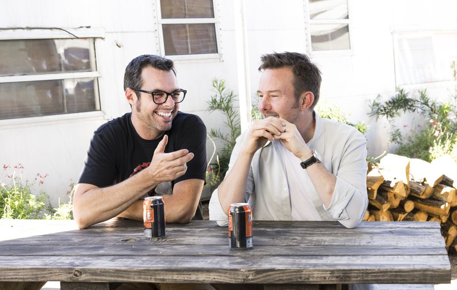 Chef Tyson Cole (right) and Aaron Franklin are opening Loro in East Dallas in 2021. The restaurant was delayed from its original opening date in 2020.