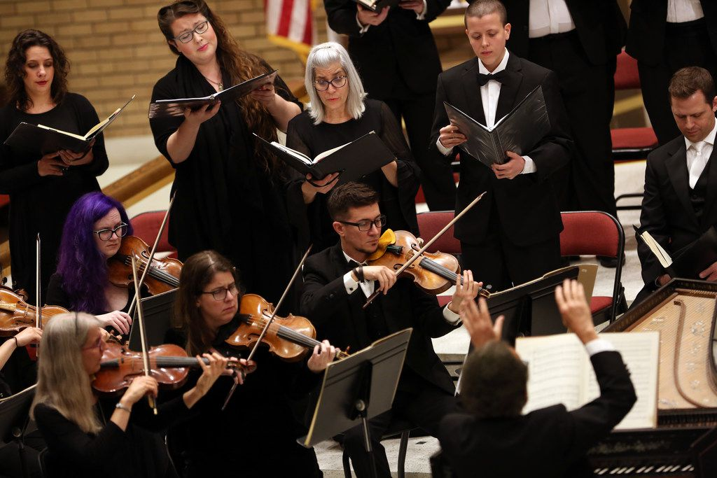 Dallas Bach Society performs Bach's St. John Passion at Zion Lutheran Church in Dallas on April 13, 2019.