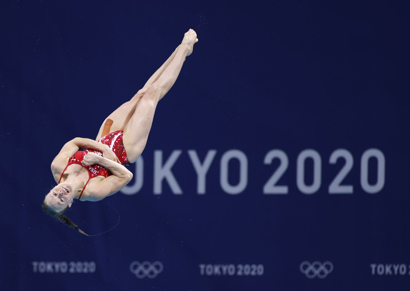 USA's Krysta Palmer dives in round 5 of 5 In the women's 3 meter springboard semifinal competition during the postponed 2020 Tokyo Olympics at Tokyo Aquatics Centre, on Saturday, July 31, 2021, in Tokyo, Japan. Palmer finished the day in 5th place with a score of 316.65 to qualify for the next round. (Vernon Bryant/The Dallas Morning News)