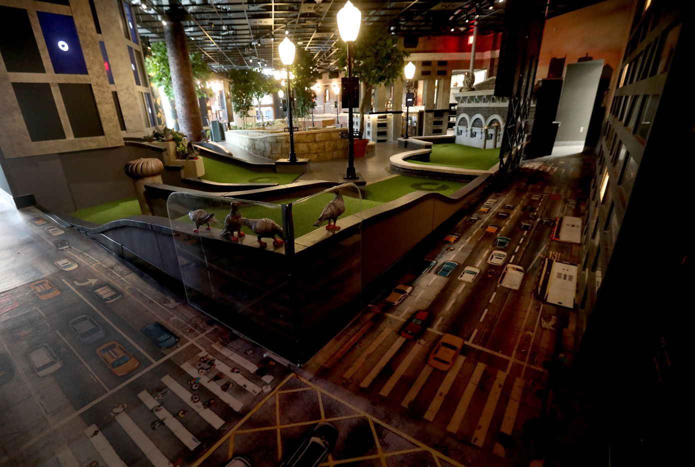 A hole in the Rooftop room at Puttery, a new indoor mini golf and entertainment concept in The Colony, Texas, Monday, August 30, 2021.